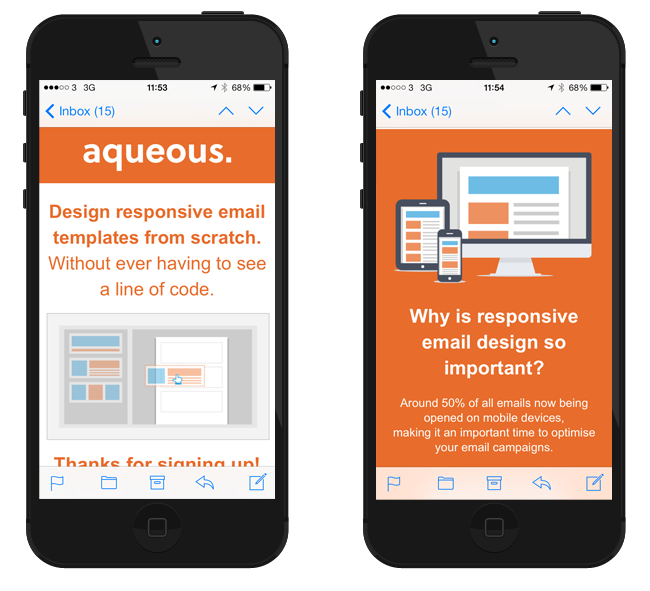 Example of responsive HTML email