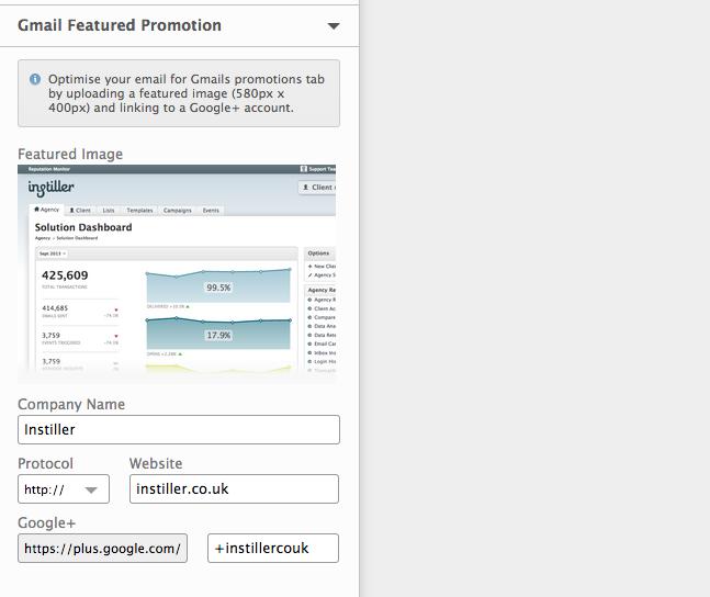 Instiller Google Promotions Tab