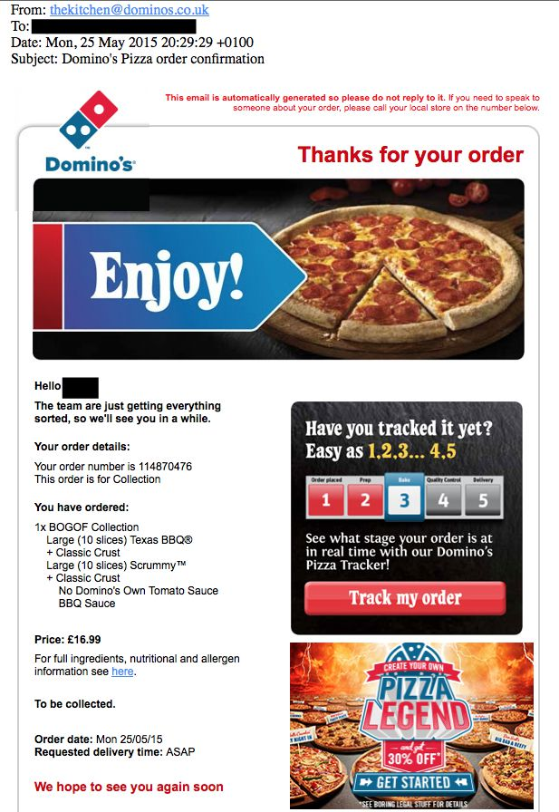 dominos-email-screenshot
