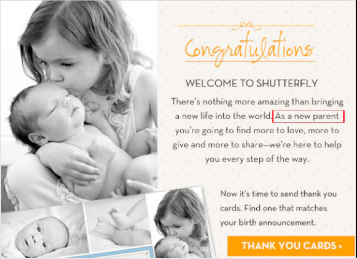 Shutterfly email image