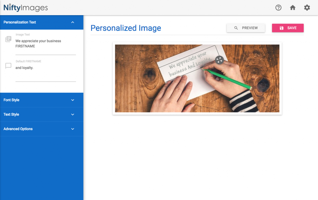 NiftyImages - Create personalised images and countdown timers for use within email