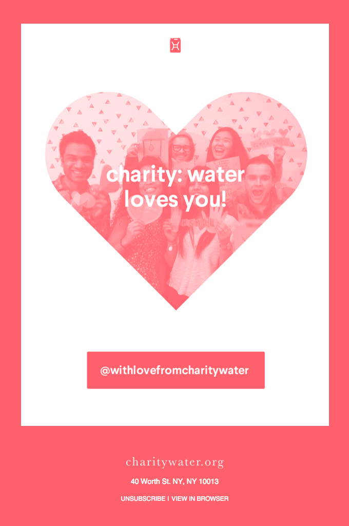 Charity: Water - Valentines Day