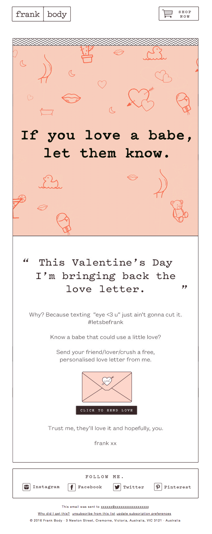 Frank Body - Valentines Day
