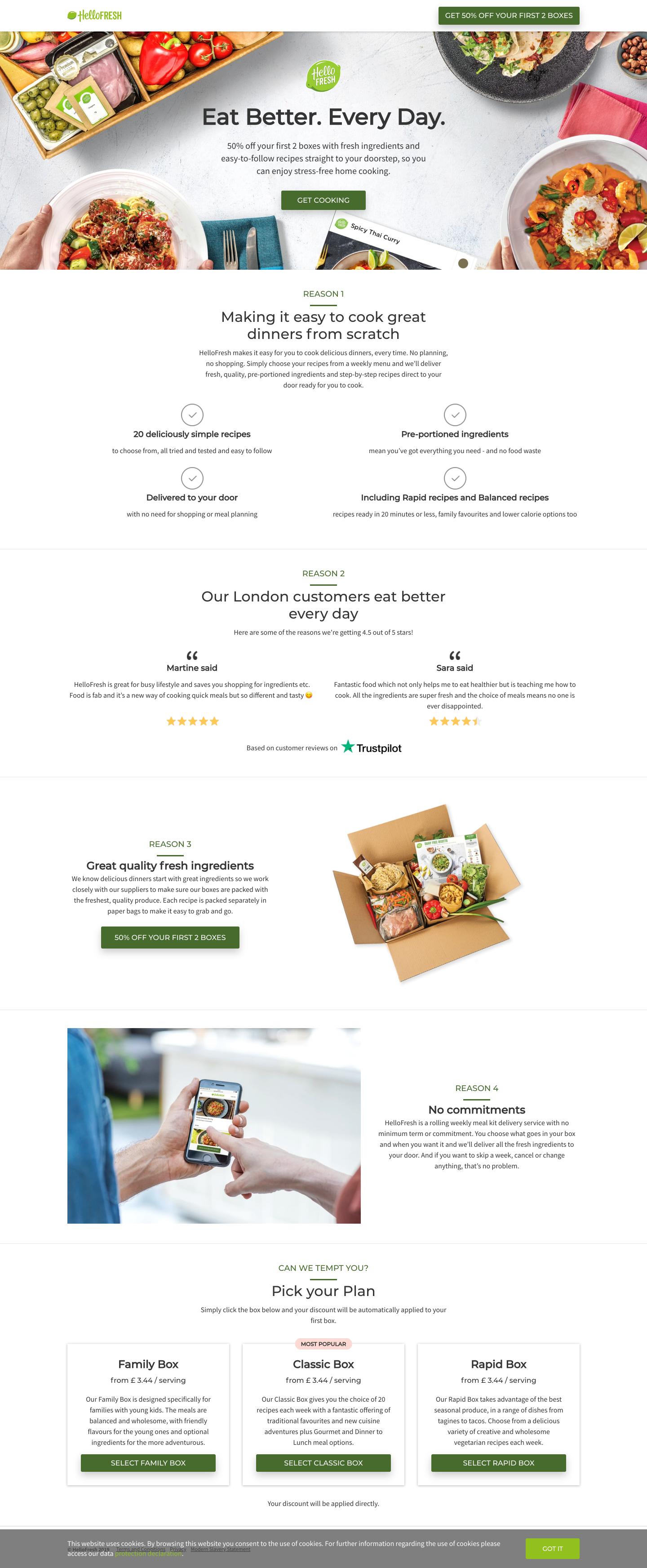 HelloFresh - Landing Page